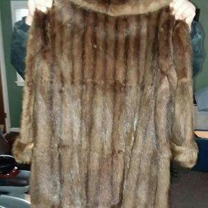 Denim - Brown Full Mink Coat